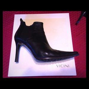 Vicini leather black boots.