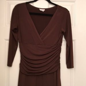Womans Brown Long Sleeve Dress.