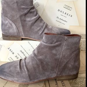 Jeffrey Campbell Suede Distress Dirty Ankle Boot 8