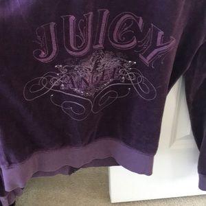 Juicy hoodie in eggplant purple