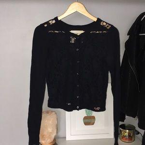 Hollister Navy Lace Cardigan