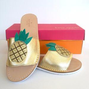 🍍kate spade Ibis Pineapple Sandals - NWOT🍍
