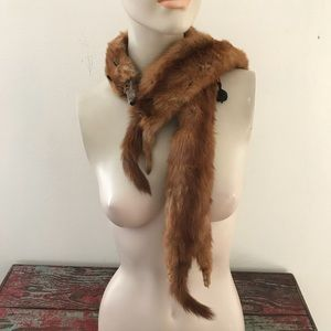 Vintage 40s/50s Full Body Mink Pelts Wrap Scarf
