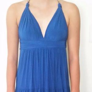 perfect, blue, boho, halter, maxi dress,