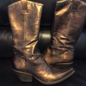 BCBGirls vintage boots color-bronze/old gold 8.5M