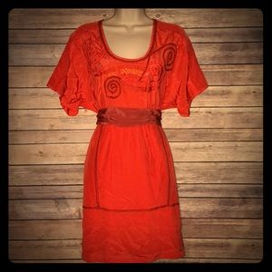 Tracy Reese Orange Party 🎉 Dress Size 6