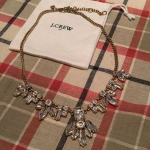 J. Crew clear sparkle gold necklace