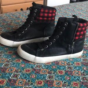 JustFab high top sneakers
