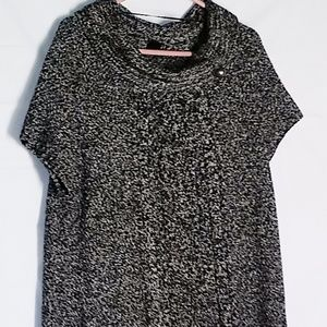 Style Co Dress Womens 1X Sweater Cowl Collar Knit