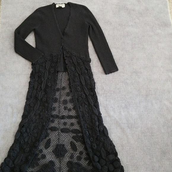 e70556bb07 Vintage Rickie Freeman for Teri Jon sweater dress.  M 5a15a94e9c6fcf21f3030f4e