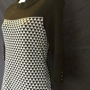 White House Black Market triangle print dress