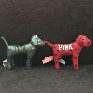 2 Victoria's Secret PINK plush dogs