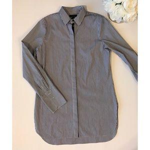 J. Crew Tunic Length Button Down Long Sleeve Top