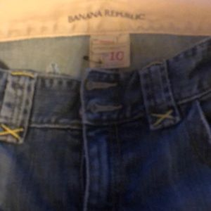 Banana Republic boot cut jeans.