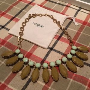 J. Crew green and teal statement necklace