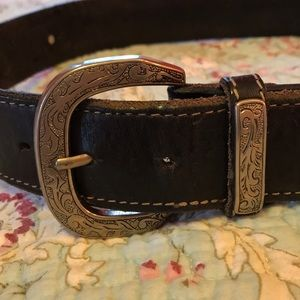 Western style leather belt