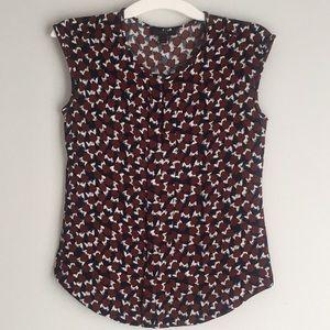 J. Crew sleeveless keyhole blouse