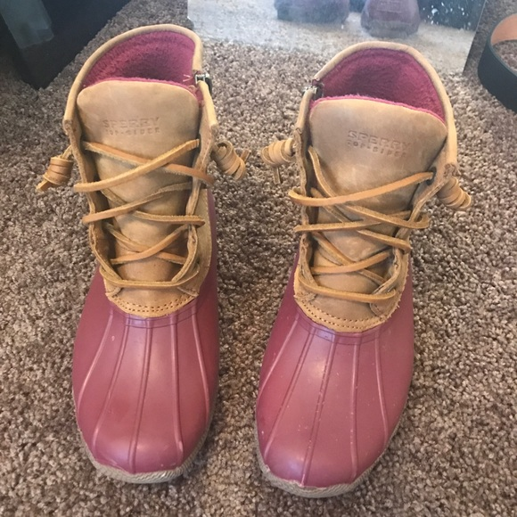 Sperry Shoes | Burgundy Sperry Duck