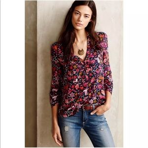 Maeve Anthropologie Blouse fox Size 12