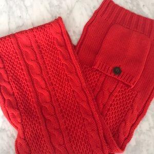 J.crew sweater scarf bright red.