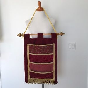 accessories velour wall hanging christmas card holder - Christmas Card Holder Wall Hanging
