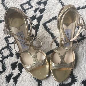Jimmy Choo Sandals, gold, sz 5.5
