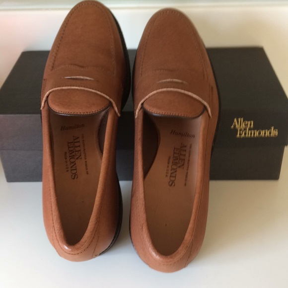 designer fashion 27c95 aa018 New Allen Edmonds Hamilton Loafers 8 1/2 D Leather NWT