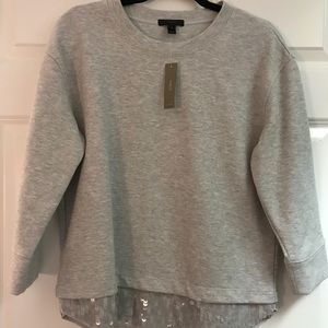J.Crew Sequin Sweatshirt