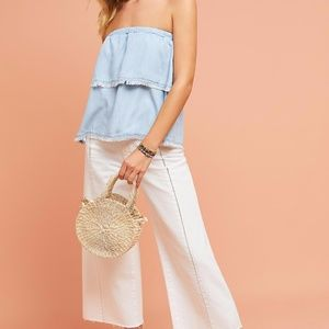 Anthropologie Tiered Strapless Top