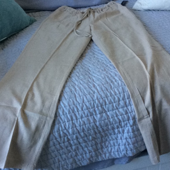 46efae5e6fd NWT Linen Wide Leg Drawstring Pants