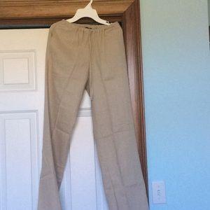 858c1861d5e Melissa Paige Pants - NWT Linen Wide Leg Drawstring Pants
