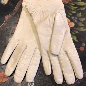 Vintage Italian cashmere lined leather gloves