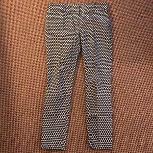 Loft Marisa Skinny patterned pant.