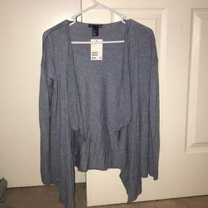 H&M blue cardigan NWT