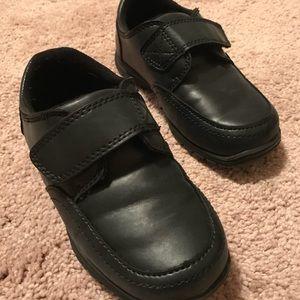 Toddler Boys Black Dress Shoes. Size 10.
