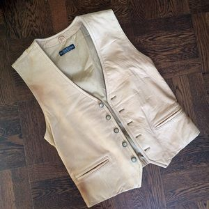 NWT High Quality Leather Tan Vest