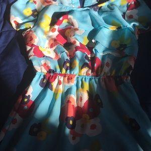 SILKY FLOWER SPRING DRESS