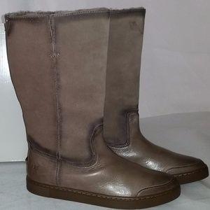 Frye Gemma Tall Shearling Winter Boot GREY