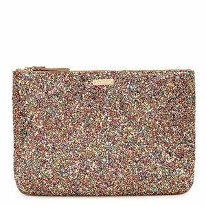 Kate Spade Multi Glitter Sparkler Gia Clutch Pouch