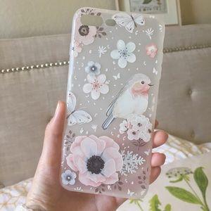 3D Floral Bird Soft 7plus Iphone Case