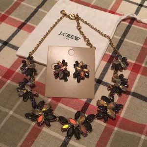 J. Crew black and white necklace and earrings