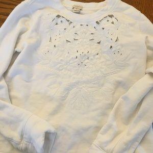 J. Crew Factory cream sweatshirt