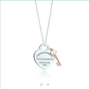 Authentic Tiffany & company pendant w/ rubedo key