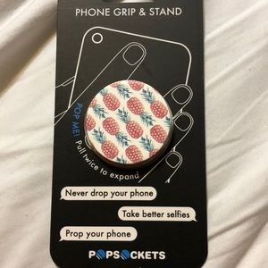 Popsocket Phone Grip & Stand Pineapple Pattern
