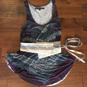 Anthropologie tank top with belt