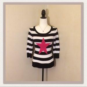 Rue 21 black/white striped rocker sweater