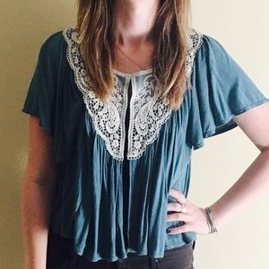 Anthropologie cardigan blouse