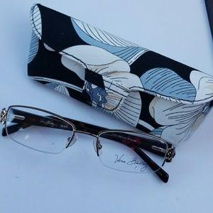 Vera Bradley Caffe Latte Glasses w/Case