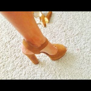 Brand New -never worn MK Suede Peep Toe