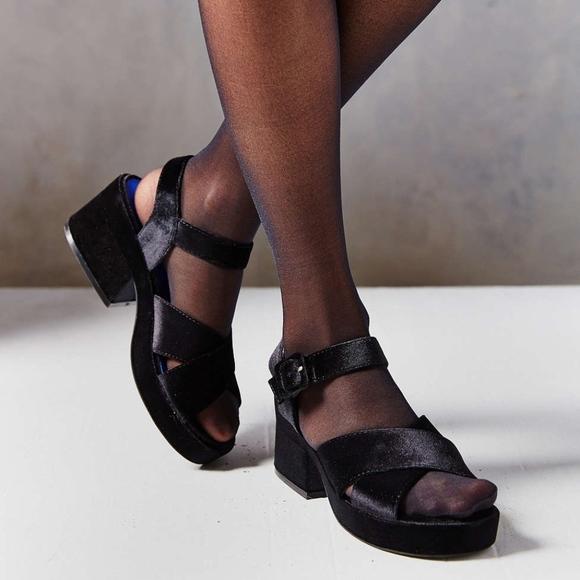 2f9c6731bcab Jeffrey Campbell Shoes - Jeffrey Campbell Ivar Velvet Heel Sandal Platform